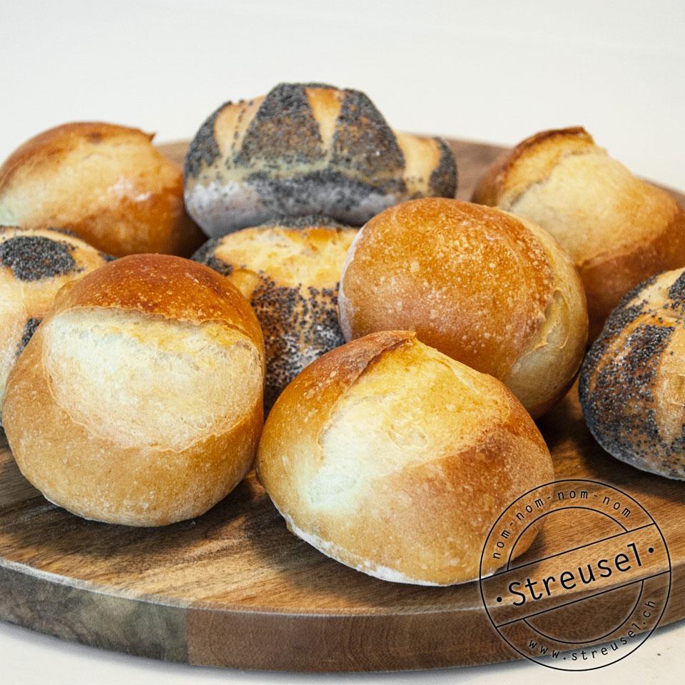 Bäckerbrötchen selbst gemacht