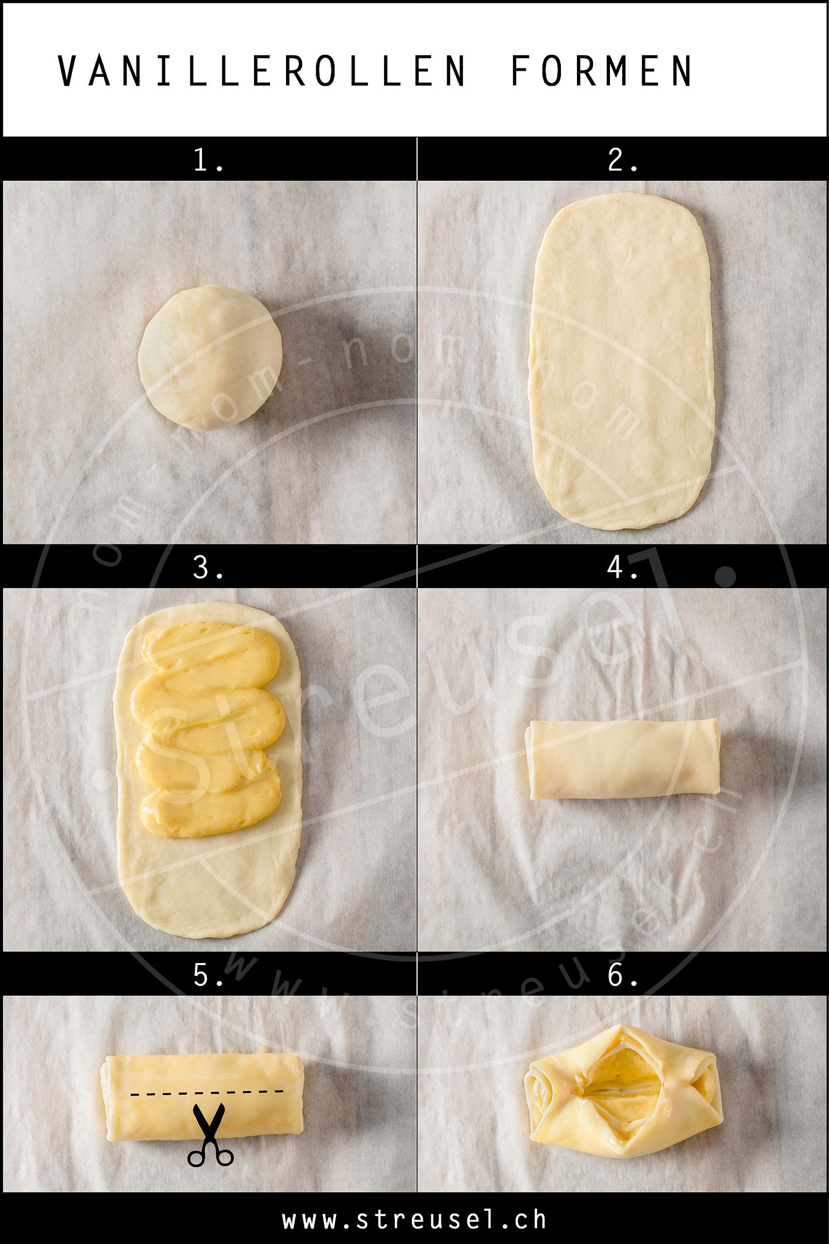 Rezept für selbst gemachte Vanillerollen.