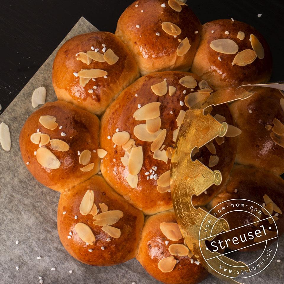 Rezept für Dreikönigskuchen ohne Rosinen, der schmeckt wie vom Bäcker