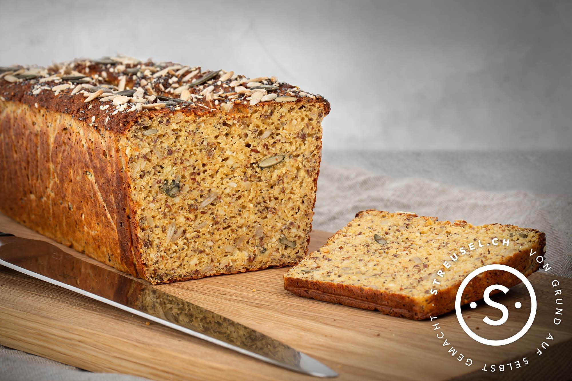 Rezept für glutenfreies Proteinbrot