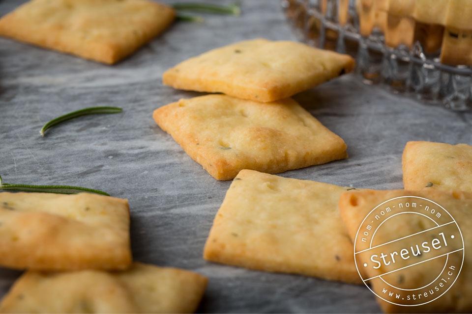 Rezept für Käse-Kekse mit Rosmarin – selber machen