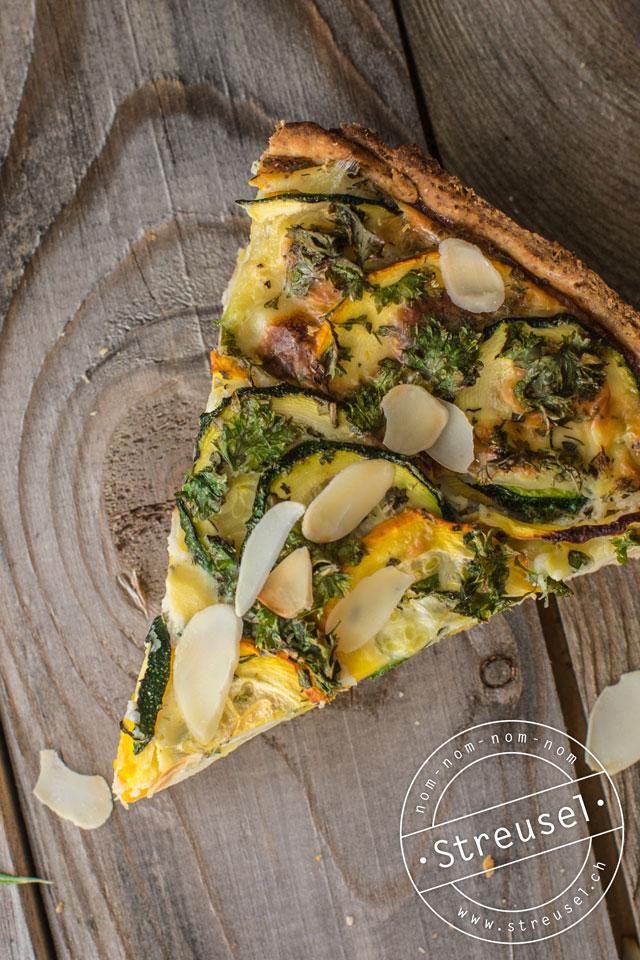 Rezept für Zucchini-Quiche (Zucchetti-Wähe) mit Kräutern – selber machen