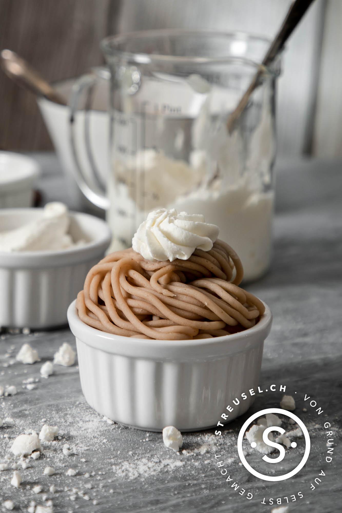 Rezept für Vermicelles – das Schweizer Maronen-Dessert selber machen