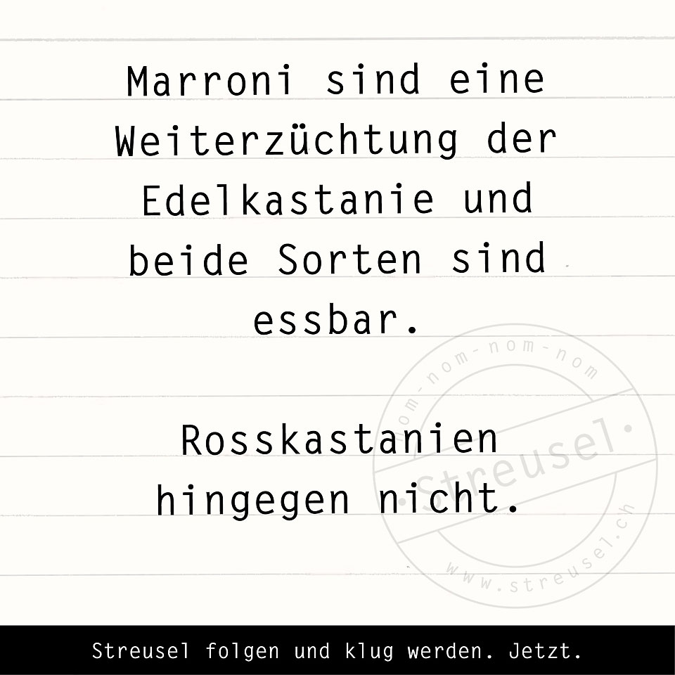 Food Facts zu Maroni / Marroni