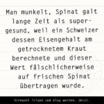Food Facts zu Spinat