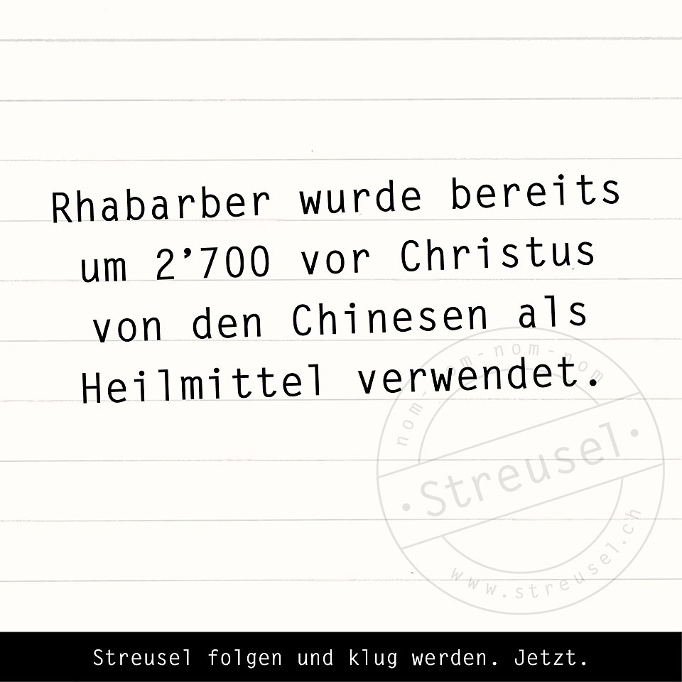 Food Facts zu Rhabarber