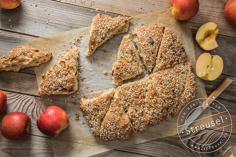 Rezept für Apfel-Pausenbrötchen – selber machen