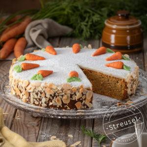 Rezept für Aargauer Rüeblitorte / Schweizer Karottenkuchen - selber machen