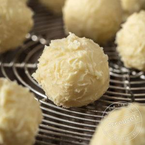 Truffes aus weisser Schokolade selber machen – Rezept von Streusel