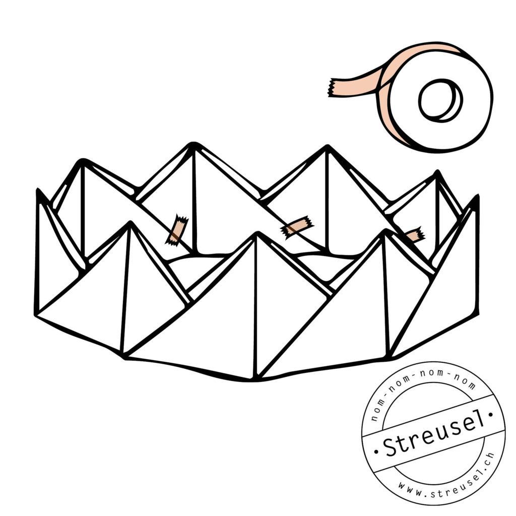 Krone aus Papier basteln – Tipps von Streusel