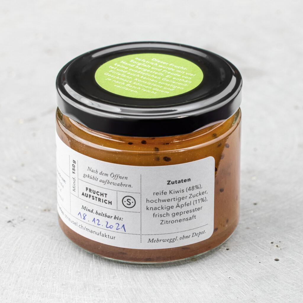 Kiwi-Fruchtaufstrich aus Streusels Manufaktur