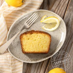 Rezept für selbst gemachten, getränkten Zitronencake.